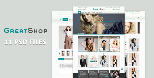 ThemeForest The Great Shop PSD Templates 5218534