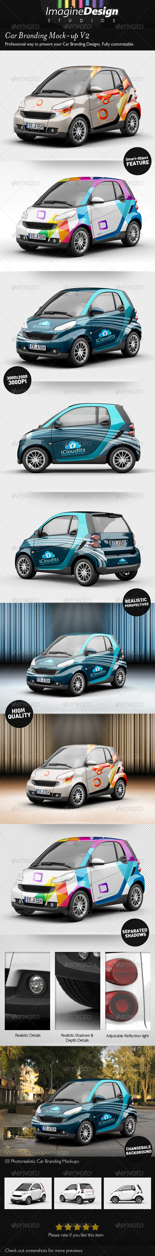 Car Branding Mock-up V2 - Vehicle Wraps Print