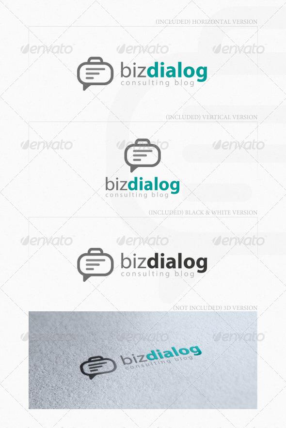 Biz Dialog Logo - Symbols Logo Templates