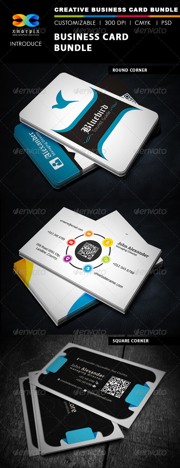 GraphicRiver Business Card Bundle 3 in 1-Vol 13 5219139