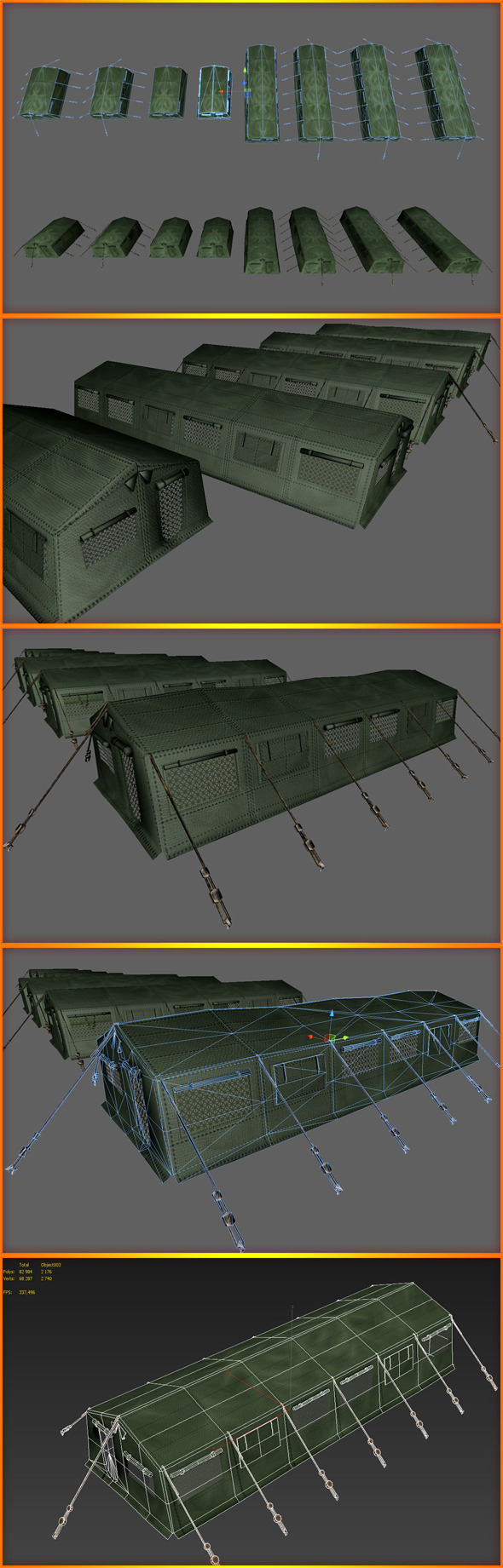 3DOcean Army Tent 5219205
