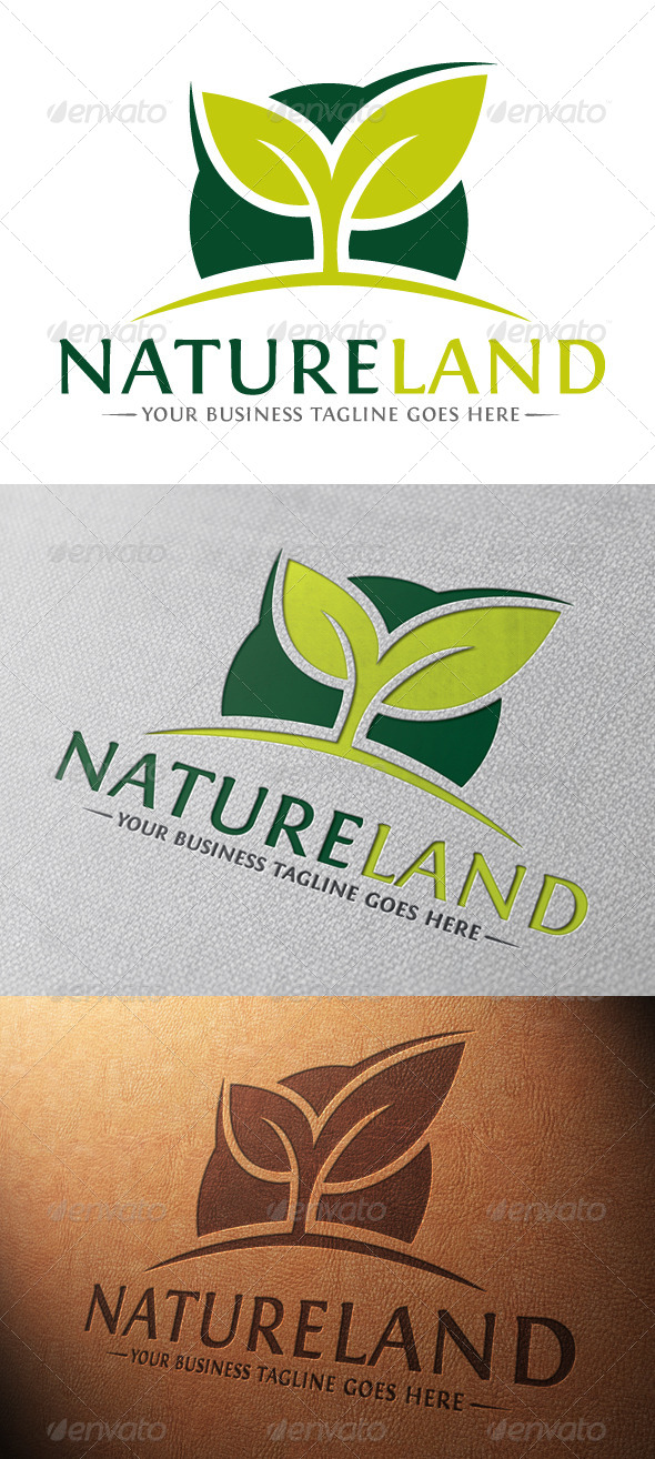 Natural Land Logo Template - Nature Logo Templates