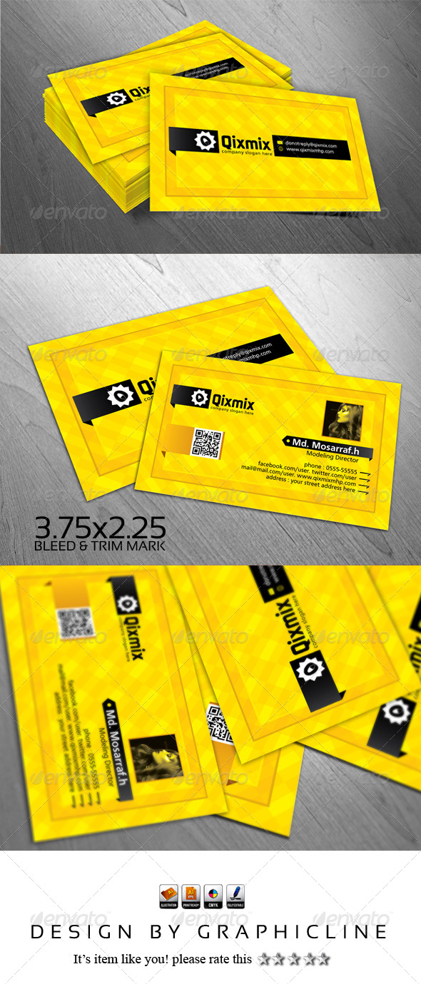 GraphicRiver Qixmix Creative Business Card Design 5219402