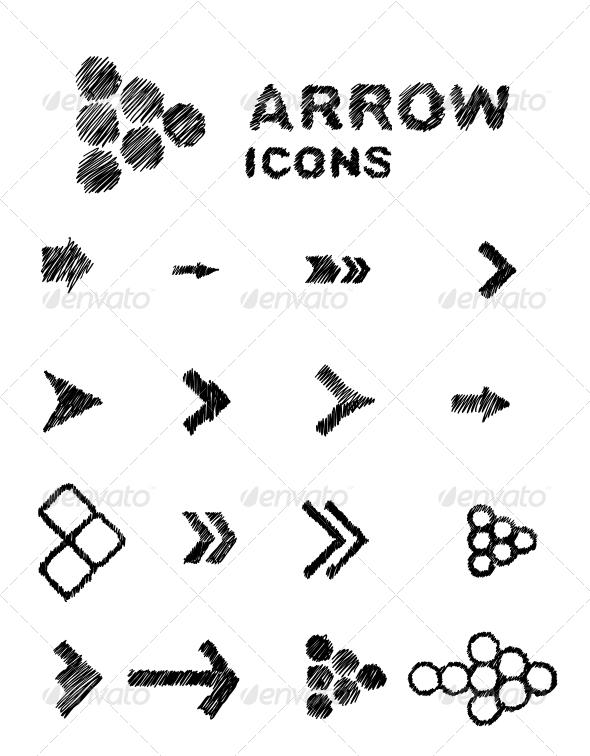 GraphicRiver Hand Drawn Arrows 5219568
