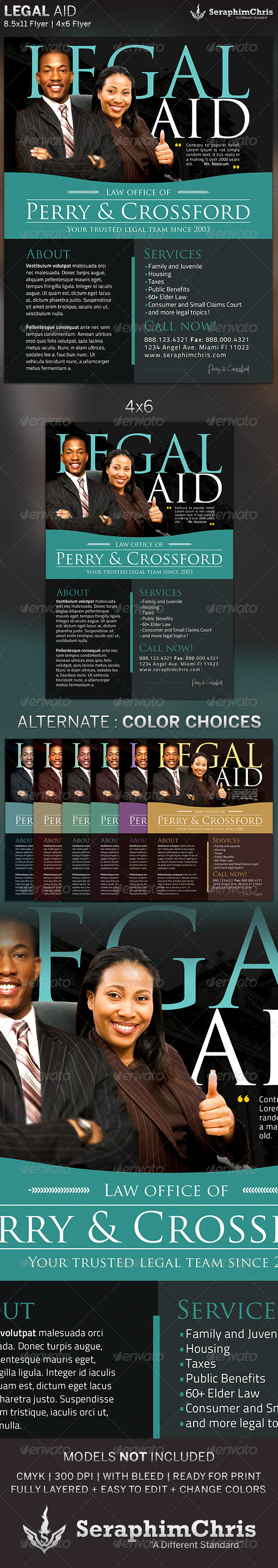 Legal Aid Corporate Flyer Template