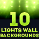 10 Lights Wall Backgrounds  - GraphicRiver Item for Sale