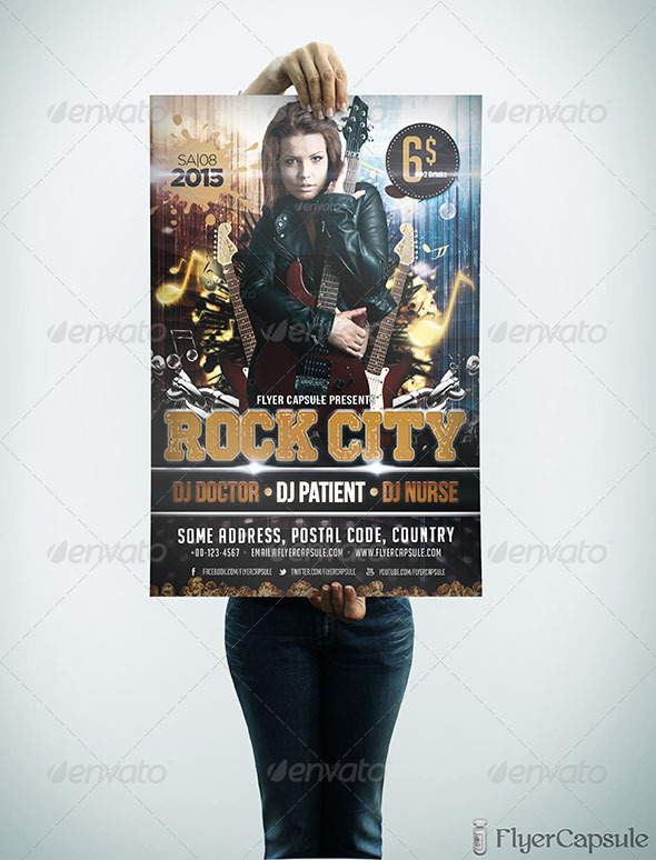GraphicRiver Rock City Flyer Template 5021884