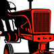 Download Vector Vintage Farm Tractor Plow Field Retro