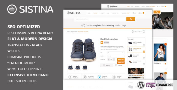 ThemeForest Sistina Flat Multipurpose Shop Theme 5220602