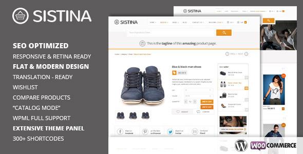 Sistina - Flat Multipurpose Shop Theme - WooCommerce eCommerce
