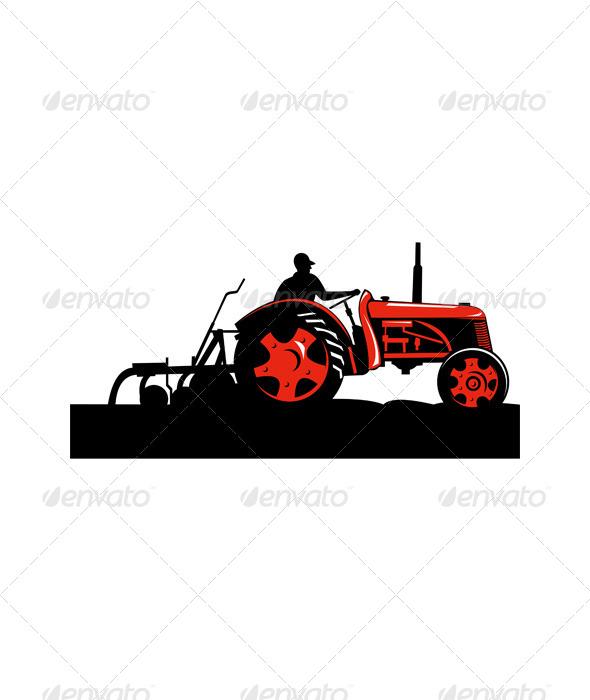 GraphicRiver Vintage Farm Tractor 5220644