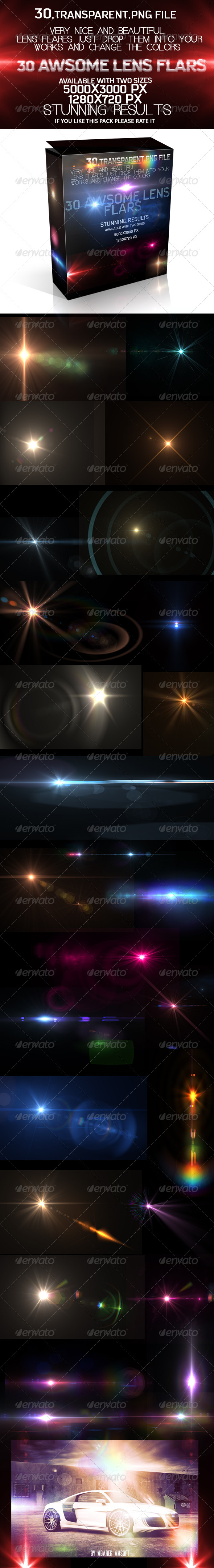 GraphicRiver 30 Awsome Lens Flare 5220739