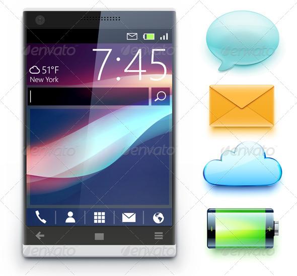 GraphicRiver Modern Cellphone 5220818