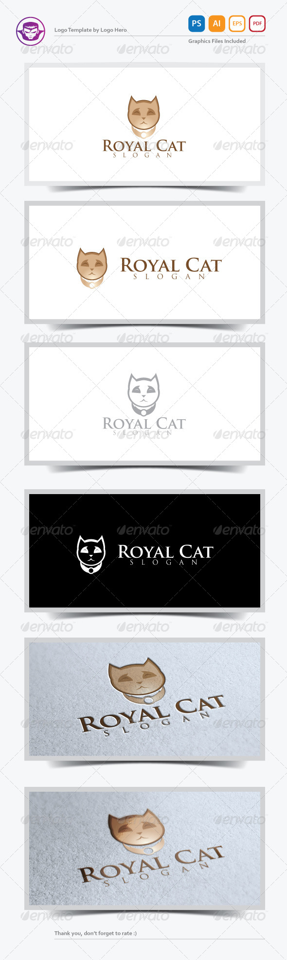 GraphicRiver Royal Cat Logo Template 5220867