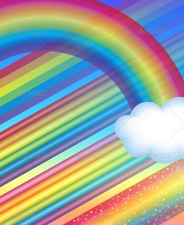 GraphicRiver Rainbow Brushes Set& 5220950
