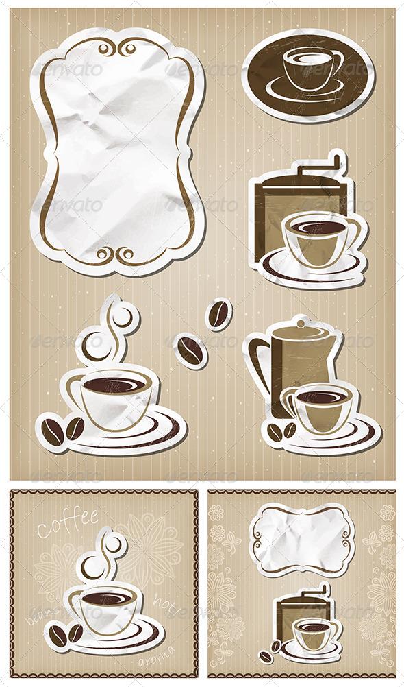 GraphicRiver Coffee Menu Vintage Set 5221058