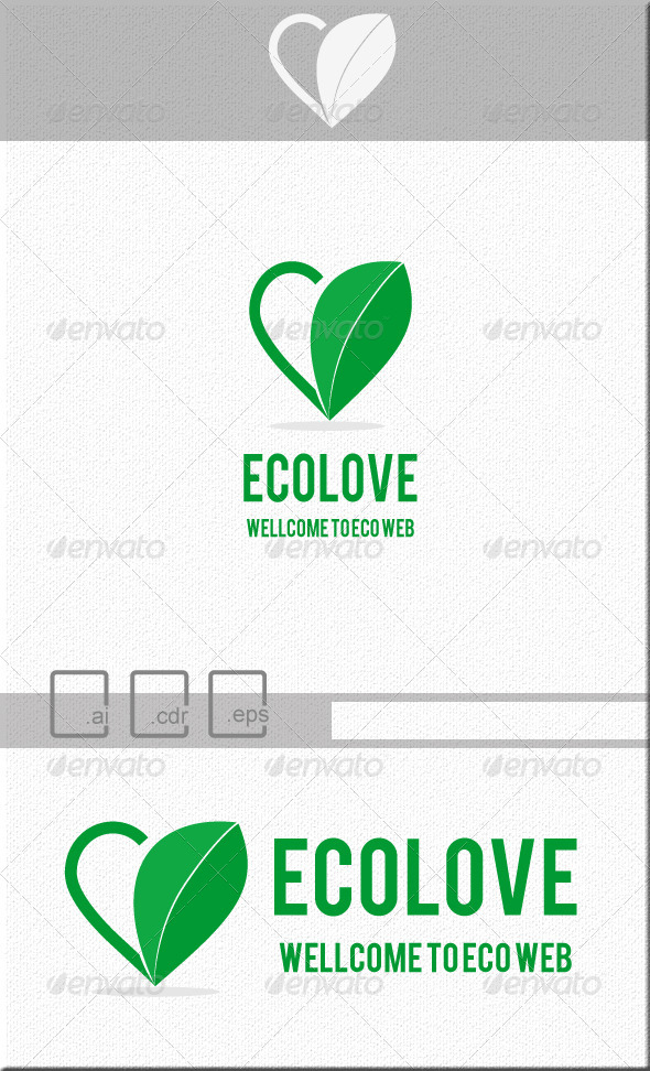 GraphicRiver Ecolove Flat Ecology Logo 5221297