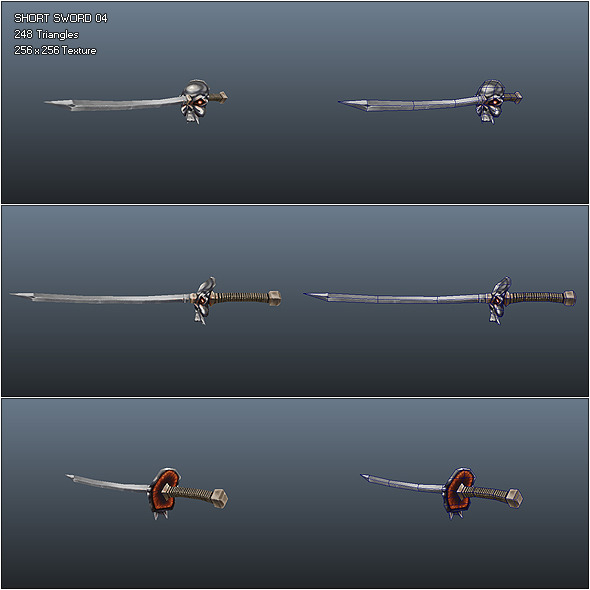 3DOcean Low Poly Simple Short Sword 04 535812