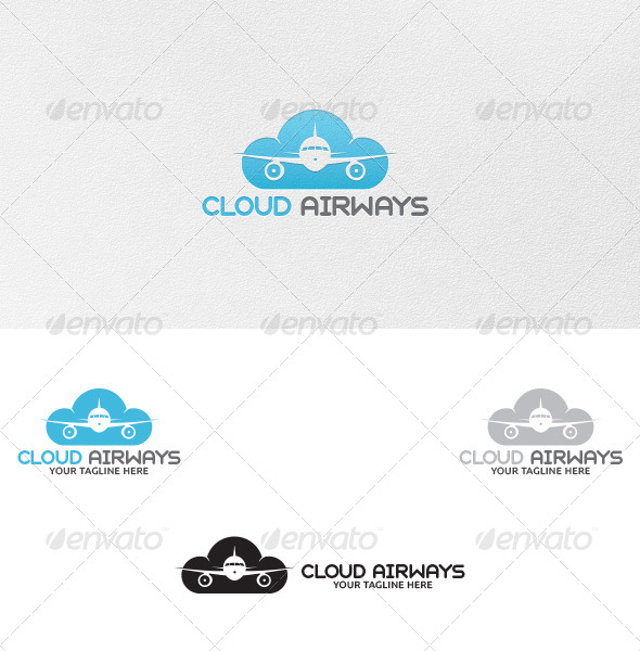 GraphicRiver Cloud Airways Logo Template 5221574