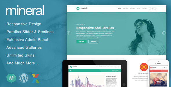ThemeForest Mineral Responsive Multi-Purpose WordPress Theme 5221751