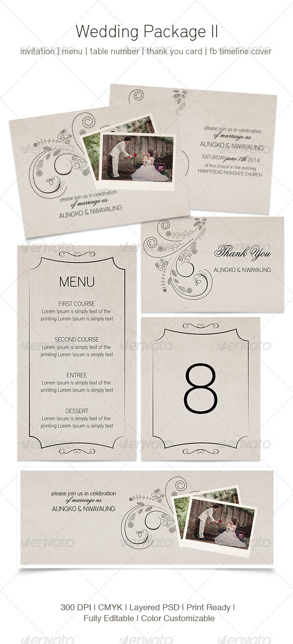 GraphicRiver Wedding Package II 5221754