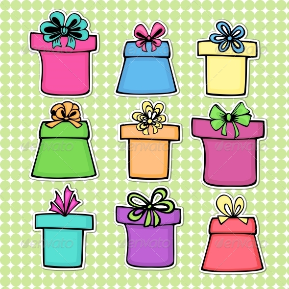 GraphicRiver Set of Gift Boxes 5221755