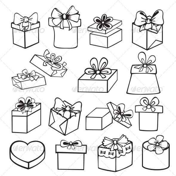 GraphicRiver Set of Gift Boxes 5221760