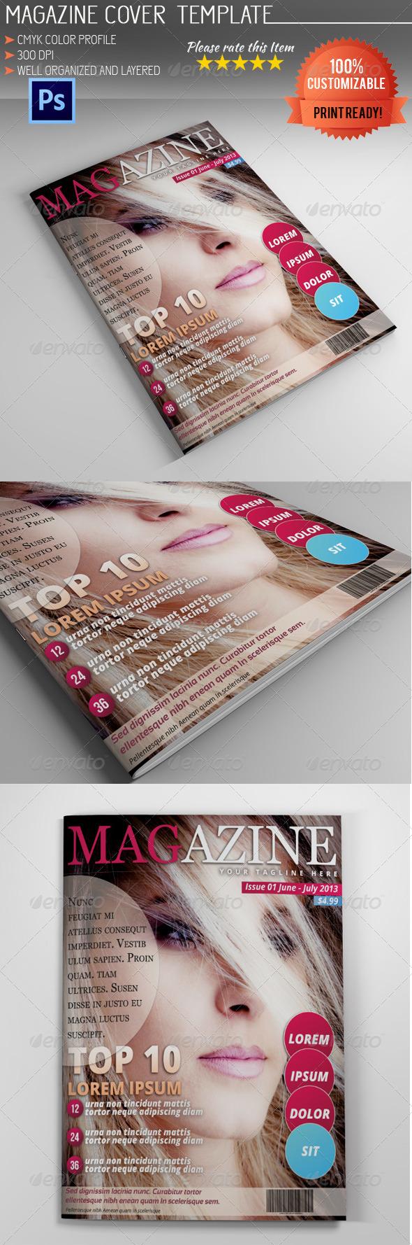 GraphicRiver Magazine Cover Template Vol.5 5221901
