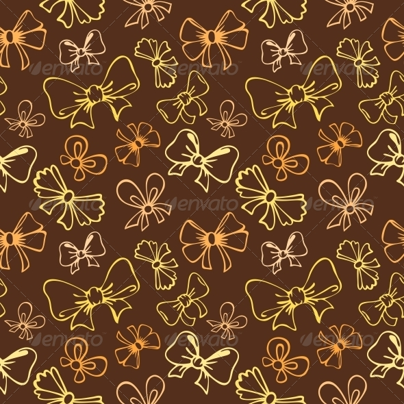 GraphicRiver Seamless Pattern with Gift Bow 5221941