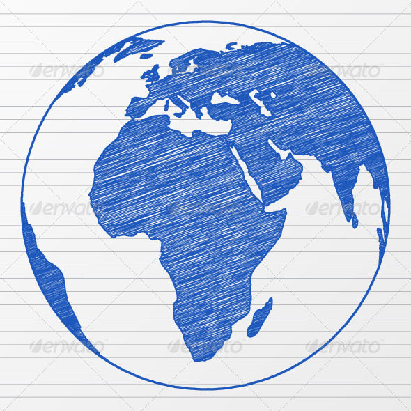 GraphicRiver Drawing World Globe 536256