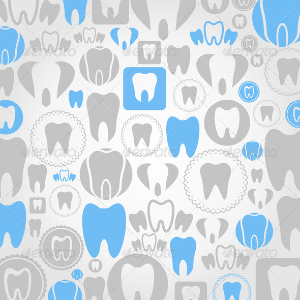 Tooth a background - Stock Photo - Images
