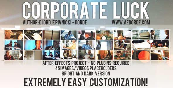 After Effects Project - VideoHive Corporate Luck 536591