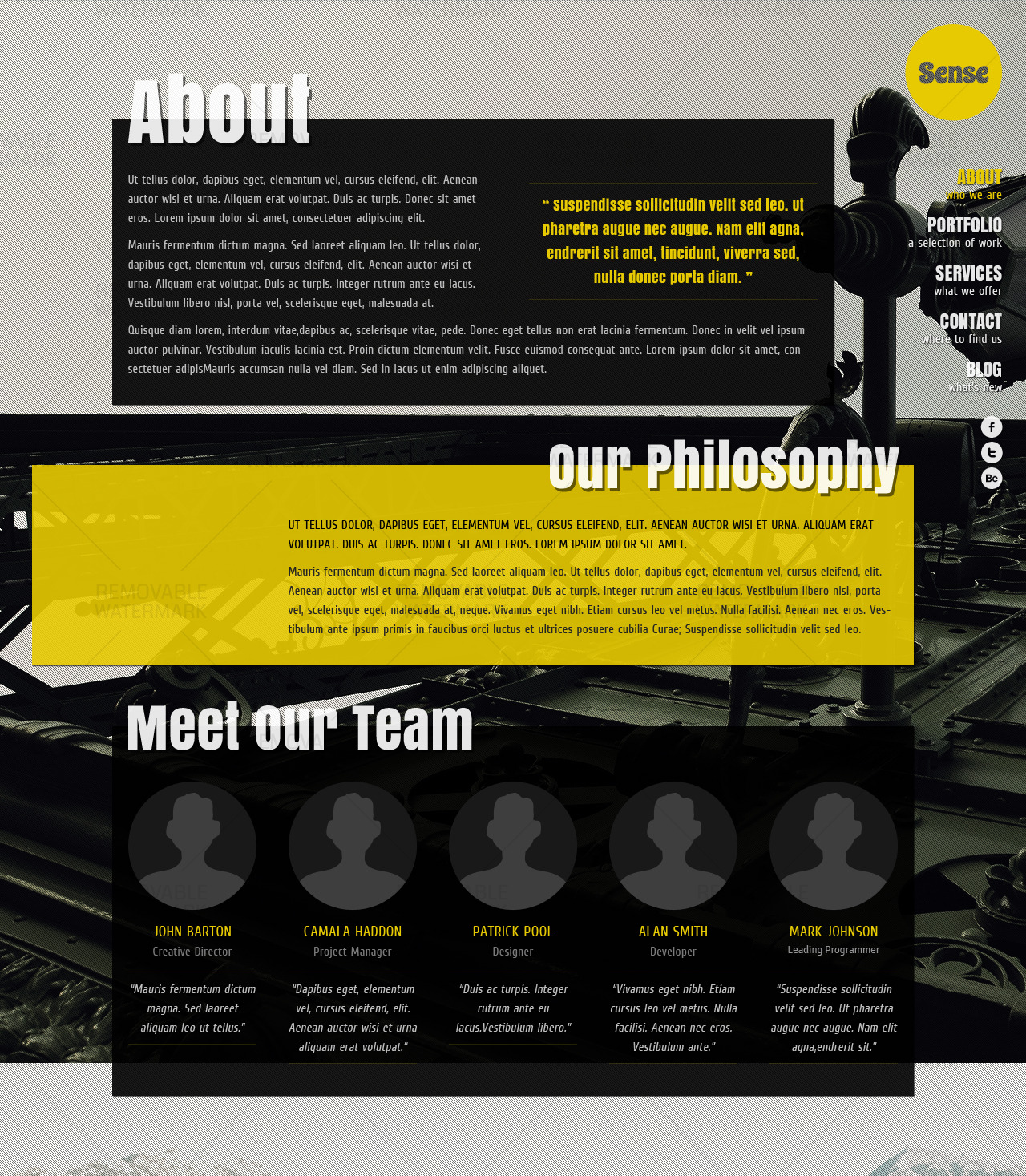 Sense - One-Page Parallax HTML5 & CSS3 Template