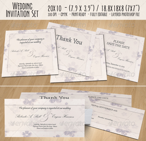 GraphicRiver Wedding Invitation Set 02 5163715