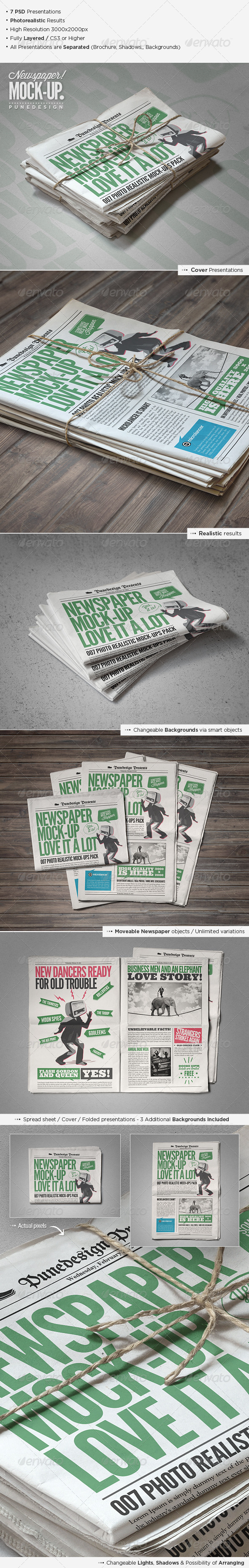 GraphicRiver Newspaper Newsletter Mock-Up 2 5220651
