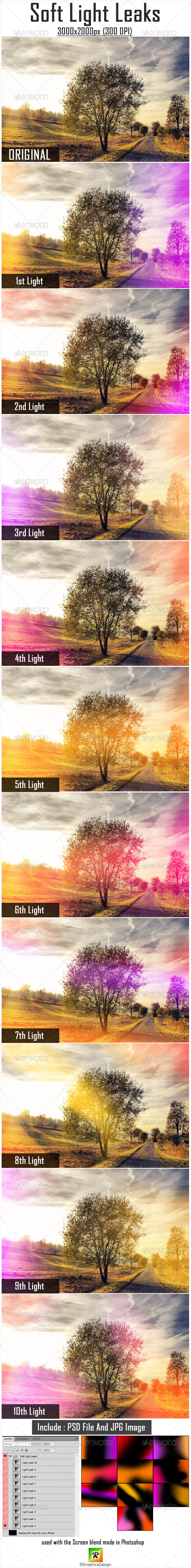 GraphicRiver Soft Light Leaks 5222608