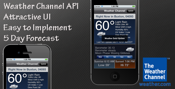 Weather Channel API Interface