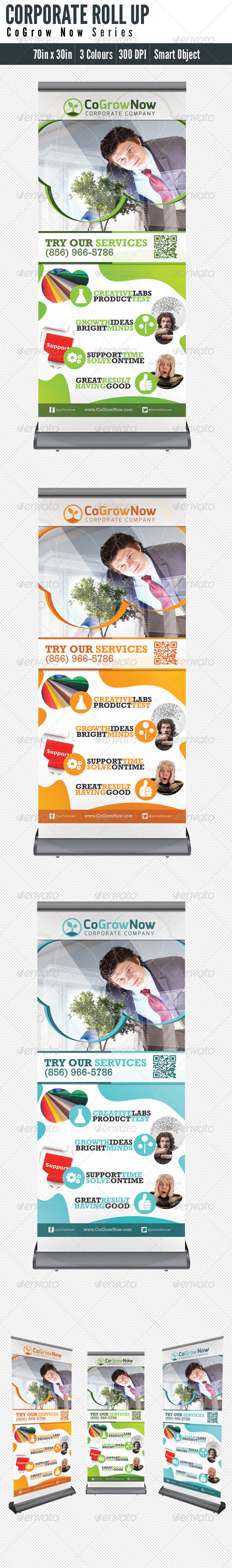 GraphicRiver Roll Up Banner Corporate 5165605