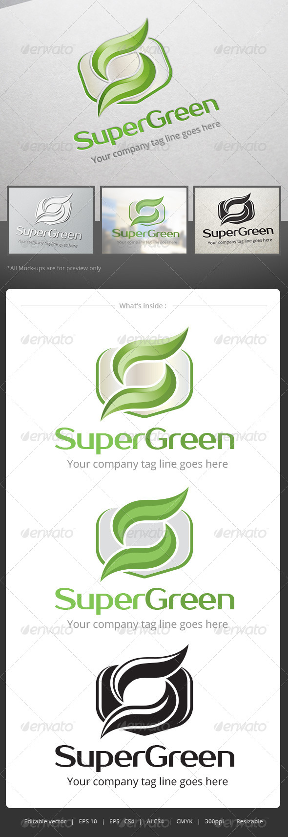 GraphicRiver Super Green Logo 5223300