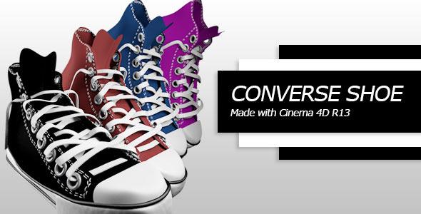 3DOcean Converse shoe C4D 5223358