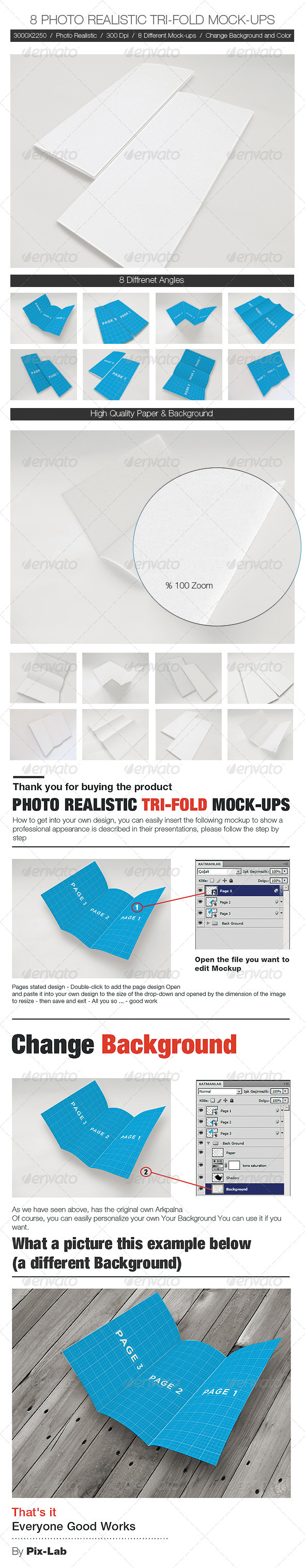 GraphicRiver Photo Realistic Tri-Fold BROCHURE Mock-Ups 5223359