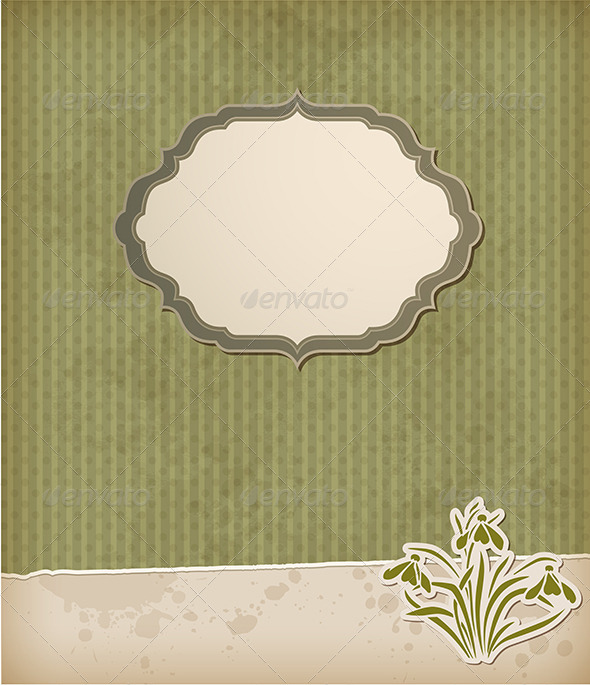 GraphicRiver Green Background with Snowdrops 5223361