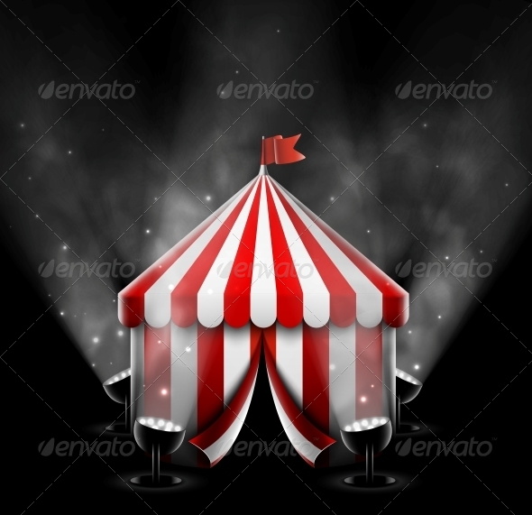 GraphicRiver Circus Tent with Spotlights 5223437