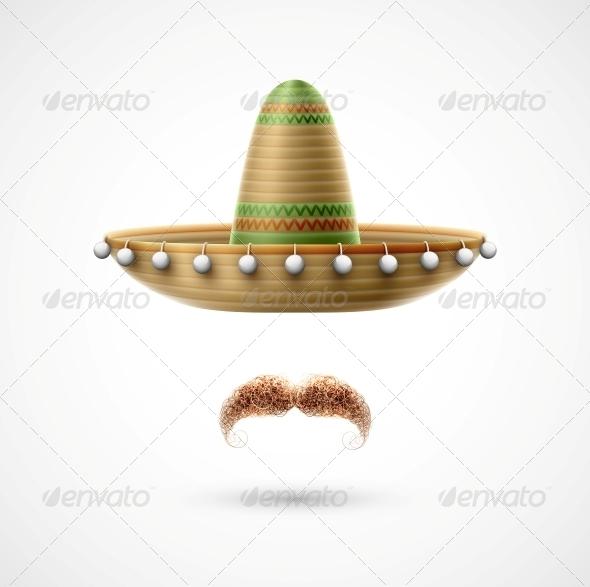 GraphicRiver Sombrero and Mustache 5223602