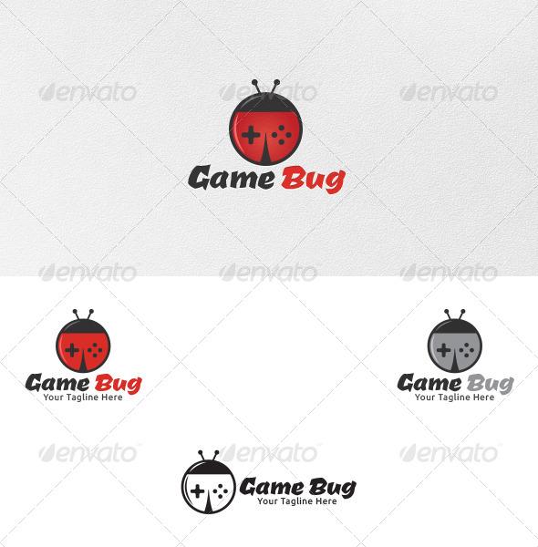 Game Bug Logo Template