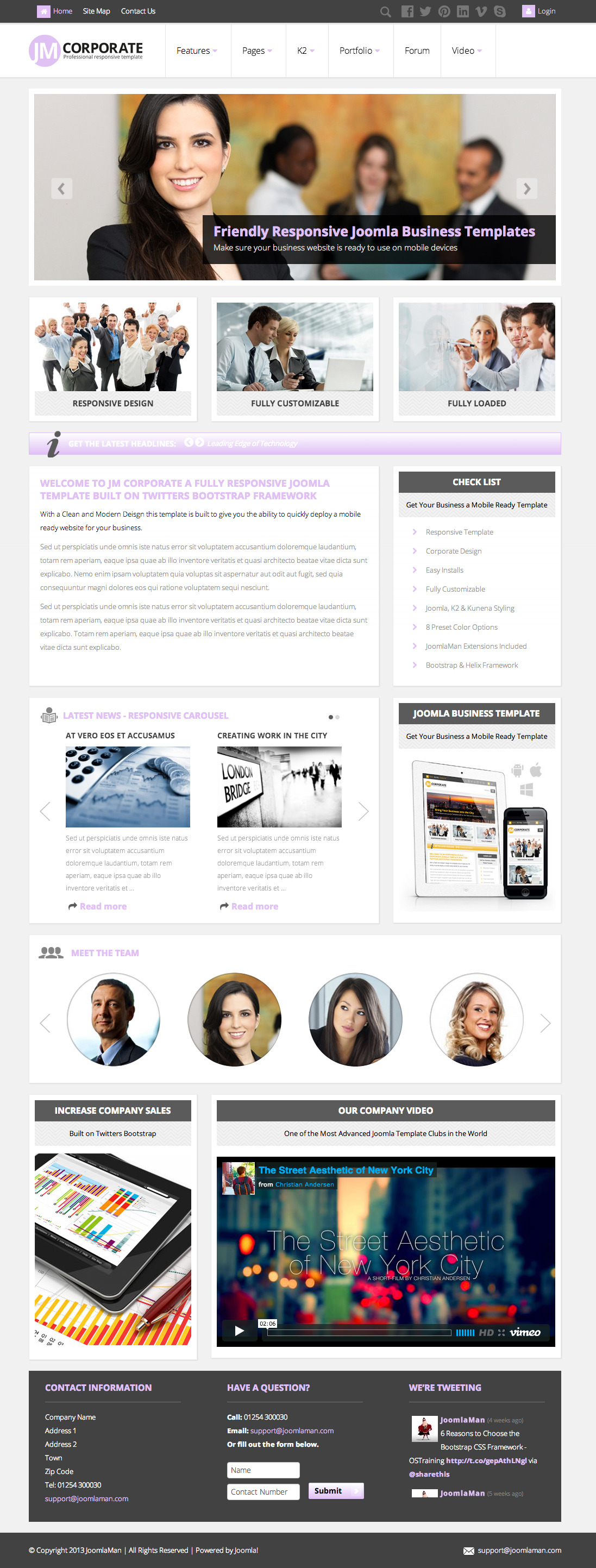 JM Corporate, Responsive Joomla Business Template