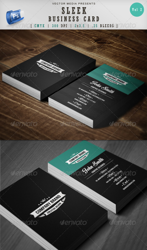 GraphicRiver Sleek Business Card [Vol.2] 5167692
