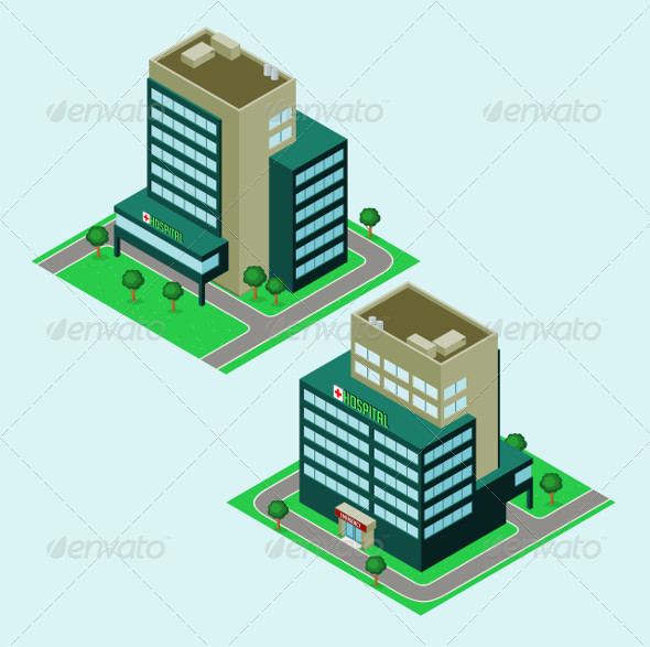 GraphicRiver Isometric Hospital 5224763