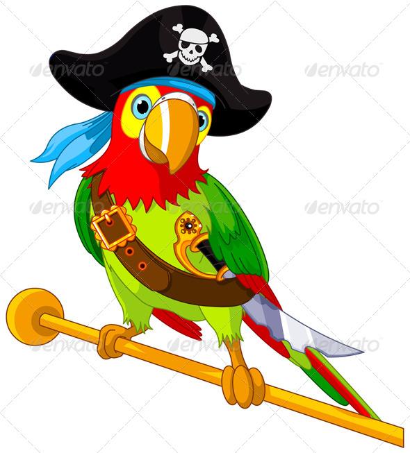 GraphicRiver Pirate Parrot 5225082
