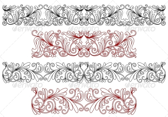 GraphicRiver Decorative Ornaments and Borders 5225405